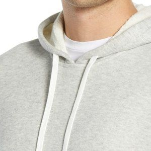 Vince Slim Fit Pullover Hoodie Gray New